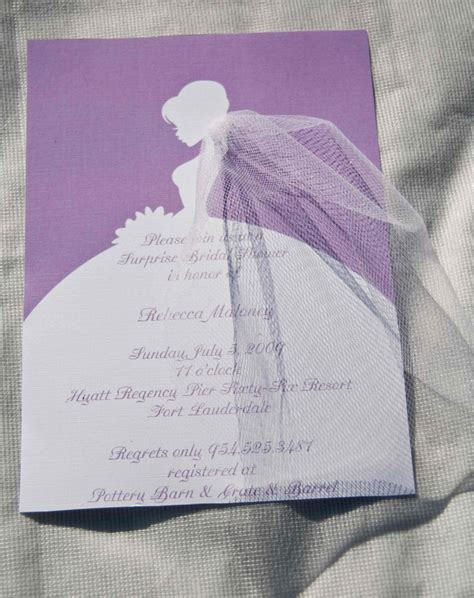 bridal shower invitations silhouette by daniellesealsevents