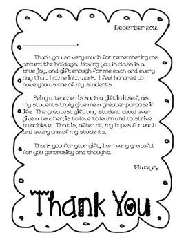 thank you letter from parents to kindergarten thank you letter from to students