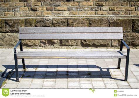 bench street bench in street stock photo image 53345592