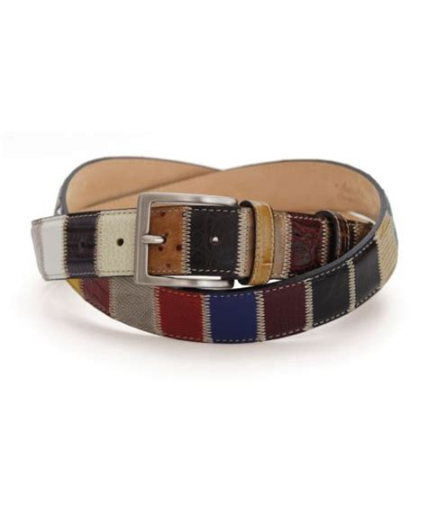 Patchwork Belt - menswear exeter stylish mens clothing jonathan hawkes