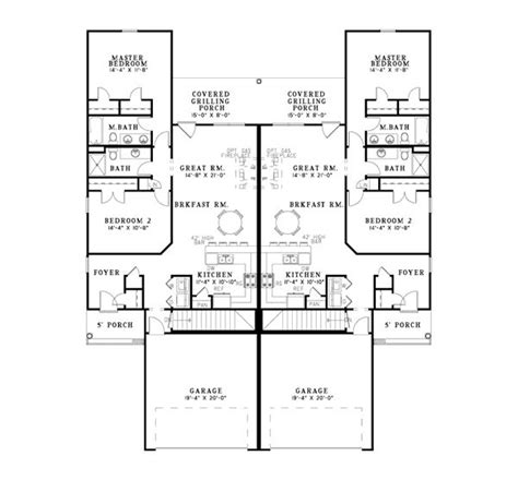 ranch duplex floor plans delonta ranch style duplex duplex plans and ranch style