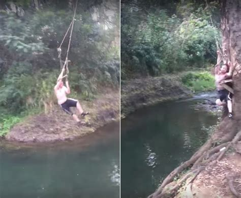 rope swing fail a giant functional punchable usb powered enter button