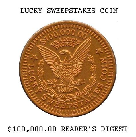 Readers Digest Sweepstakes Coin - reader s digest sweepstakes coin collectors weekly