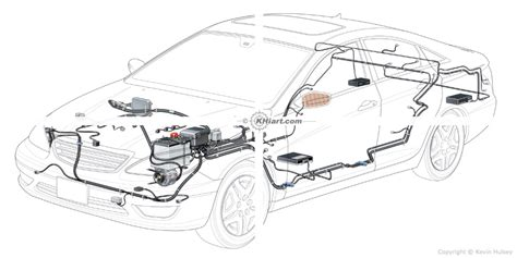 automotive illustration cutaway of a 2012 generic car