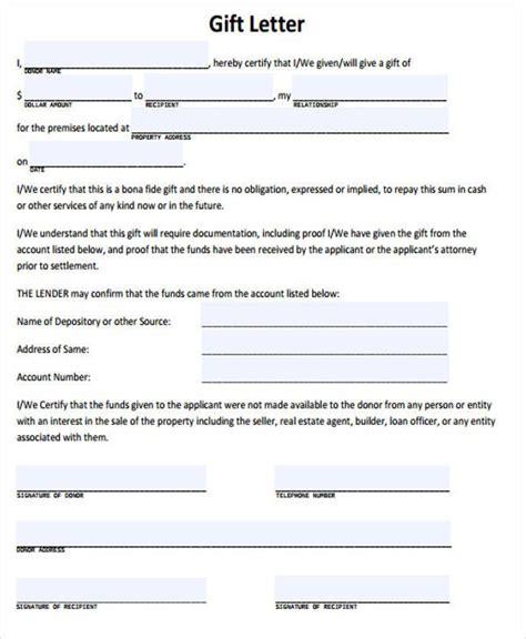 Gift Letter C 6633 Sle Gift Letter Canada Docoments Ojazlink