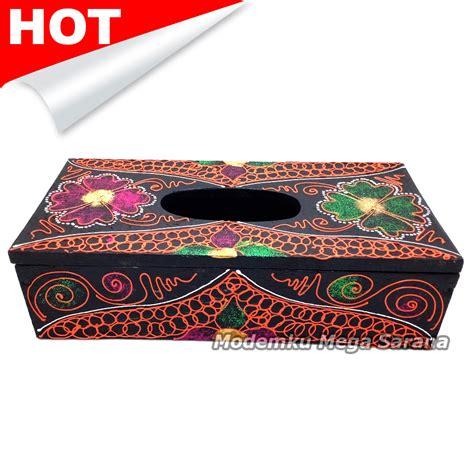 Bunga Gliter jual kotak tisu kayu tempat tissue kayu glitter motif