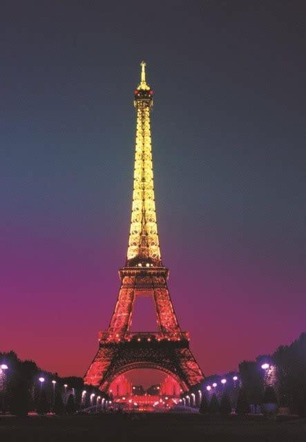 xft paris night la  eiffel tower blue street light
