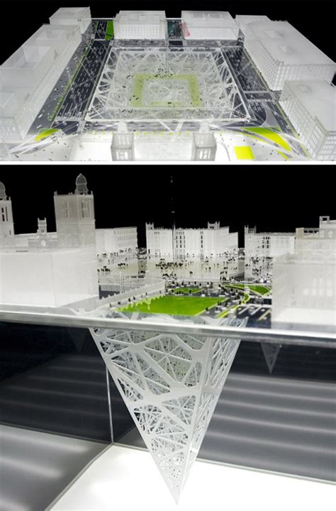 Inverted Living by Earthscraper Inverted Pyramid Spans 1000 Vertical Feet