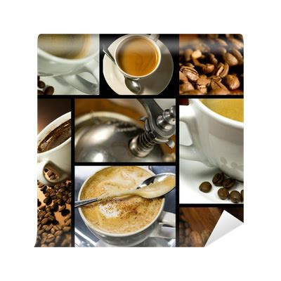coffee themed collage coffee time relax wall mural