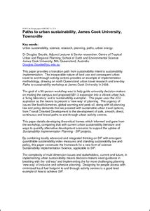 jcu design guidelines paths to urban sustainability james cook university