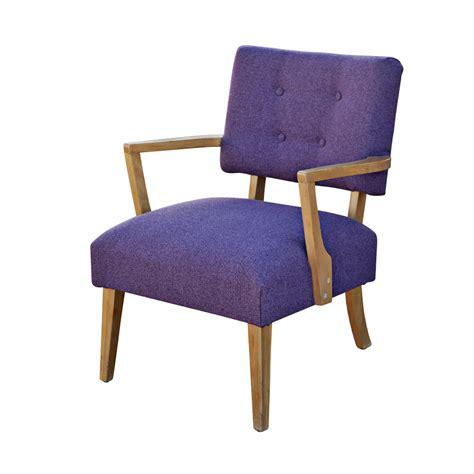 mid century modern purple armchair