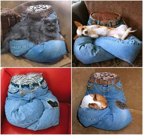 Fabulous DIY Idea   Sew Pet Pillow From Recycled Jeans   Fab Art DIY