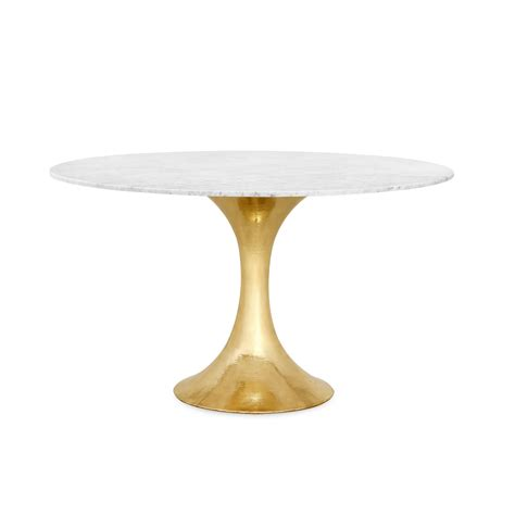 brass dining table base stockholm brass dining table base pairs with 52 quot 60 quot top sold separately brass bungalow 5