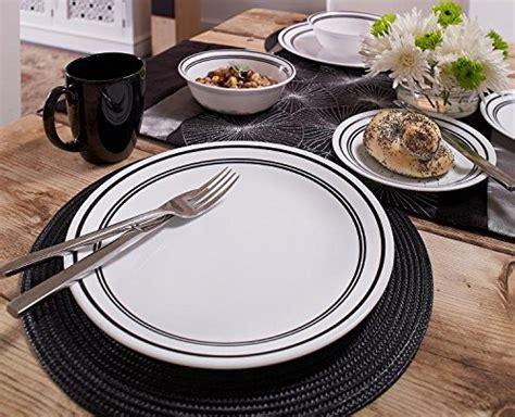 Corelle Livingware 16 Piece Dinnerware Set,Classic Cafe