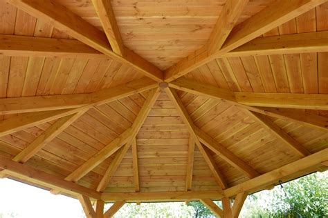 Pavillon 6 Eckig Holz by Gazebo 8eck Pavillon Leimholz Garden House Wood Shop