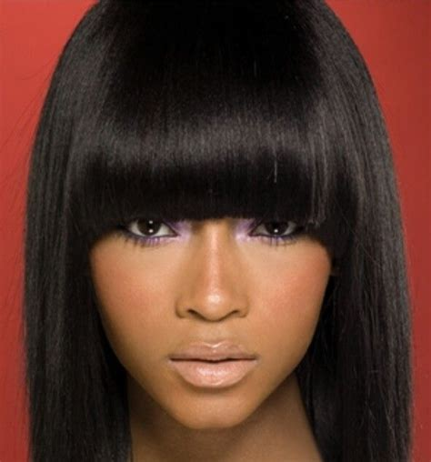 chinese bangs on black women chinese bang hairstyles hair pinterest chinese bangs