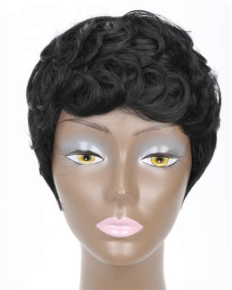 itip extensions in pixie short pixie cut curly hair wigs for black women afro hair