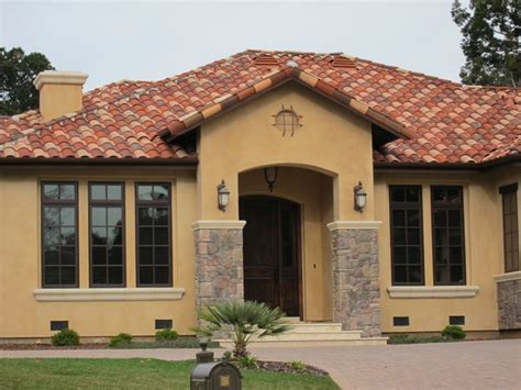 Single Story House by Exterior Spanish Style House Colors House Style Design