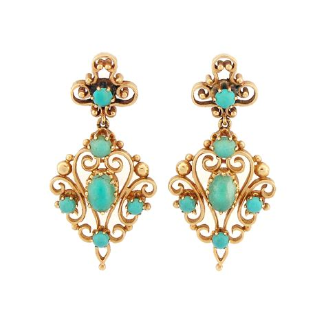 jewelry earrings style turquoise 14k gold drop earrings cleo
