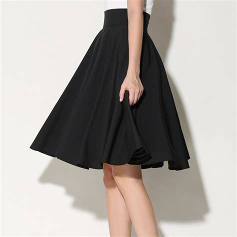 black white midi skirts womens summer 2016 high waist
