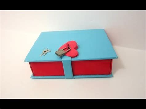 explosion box tutorial start to finish part 2 how to make a book box with a lock