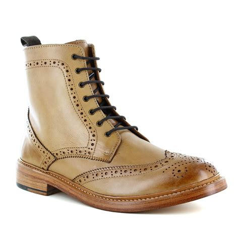 justin reece magnus mens leather brogue boots