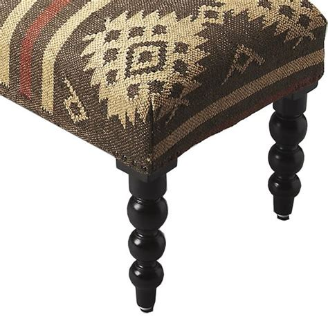 es upholstered ottoman rustic taupe and ivory jute upholstered ottoman bench