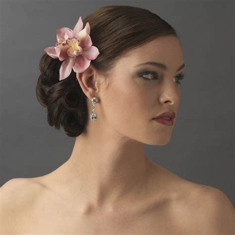 Wedding Hair With Orchids by Realistic Looking Bridal Orchid Flower Hair Clip Clip