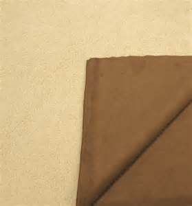 Sheepskin Upholstery Fabric Faux Shearling Synthetic Suede Reversible Fabric By The