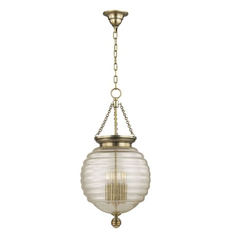 Hudson Valley Light Fixtures Hudson Valley 3214 Agb Coolidge Aged Brass Hanging Light Fixture Hud 3214 Agb