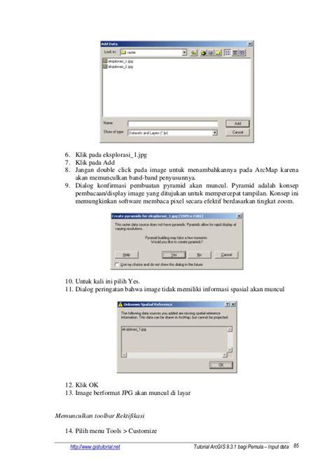 tutorial arcgis 10 tingkat lanjut tutorial arcgis 931