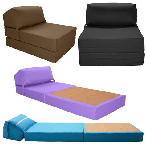 futon une place pliable matelas mousse pliant bed z lit simple fauteuil canap 233