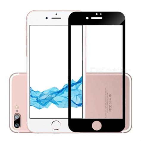 naxtop screen protector tempered glass for iphone 8 plus black free shipping dealextreme
