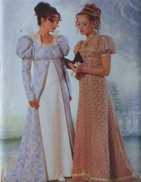 clothes pattern in english english regency gown costume sewing pattern uncut