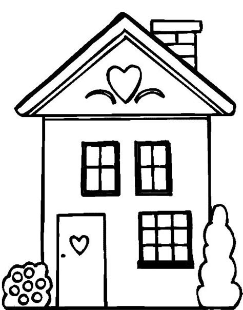 People And Jobs Coloring Pages For Kids Houses Colouring Coloring Page House