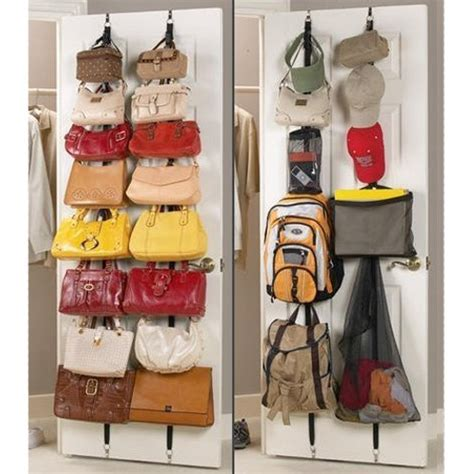 over the door purse rack 2 pack over the door hanging purse rack hangs multiple purses and other items