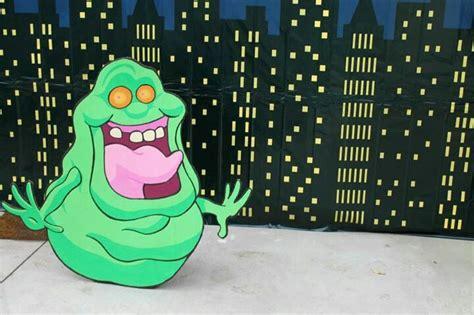 Ghostbusters  Ee  Party Ee   Slimer Photo Prop Painted Cardboard