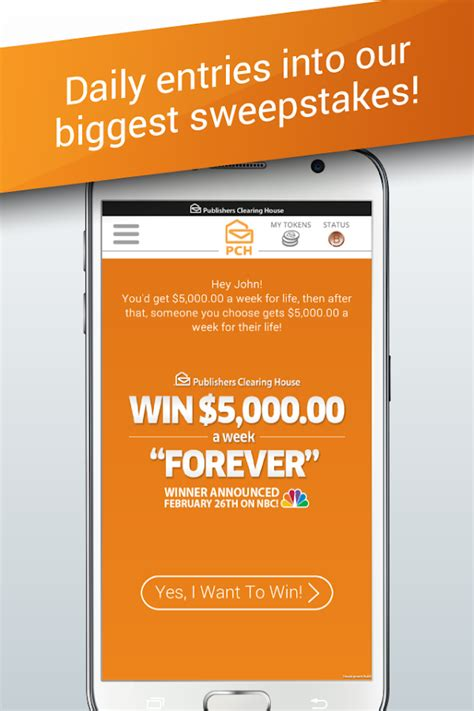 Pch 4 Million Dollar Sweepstakes - the pch app android apps on google play