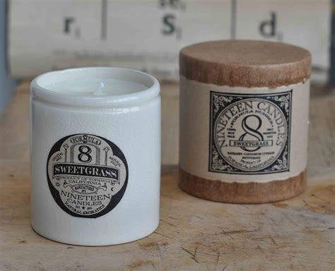 Handmade Candles Uk - handmade nineteen candle no 8 sweetgrass
