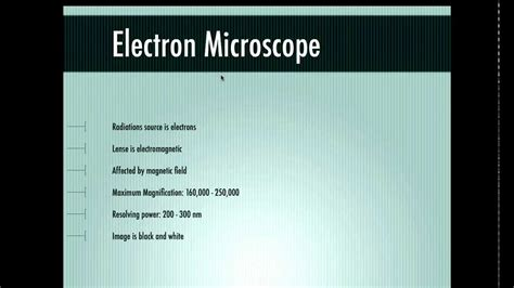 difference between l and light difference between electron and light microscope youtube