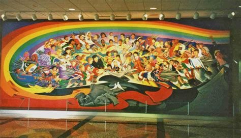Egyptian Wall Mural anomalies at denver airport