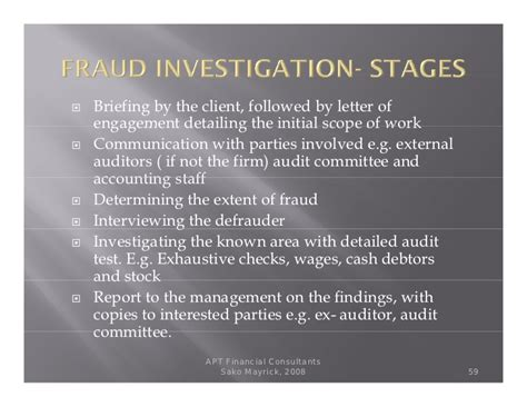 Fraud Auditing Invetigation fraud money laundering and forensic audit