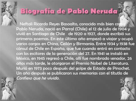 M S Libros De Pablo Neruda El Resumen   pablo neruda