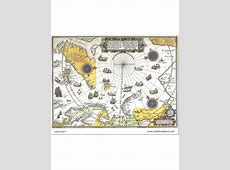 Ancient Map Yellow Theme Wallpaper or Fabric Kids Room Wallpaper Pattern