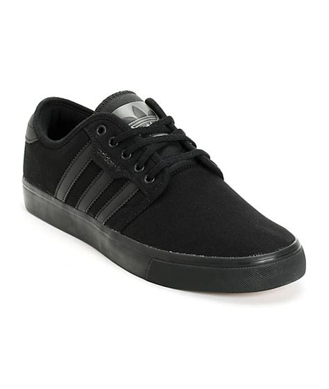 all black sneakers for adidas seeley all black canvas shoes