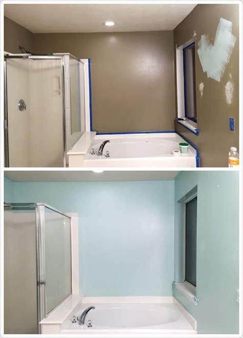 bathroom makeover diy paint behr mint time painter paint colors