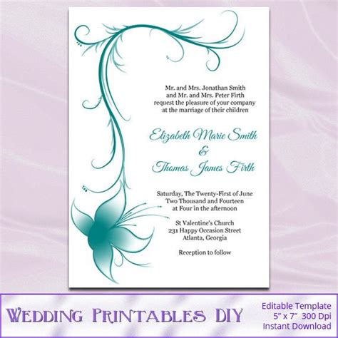 diy wedding invitations free templates 7 best images of diy printable wedding invitation