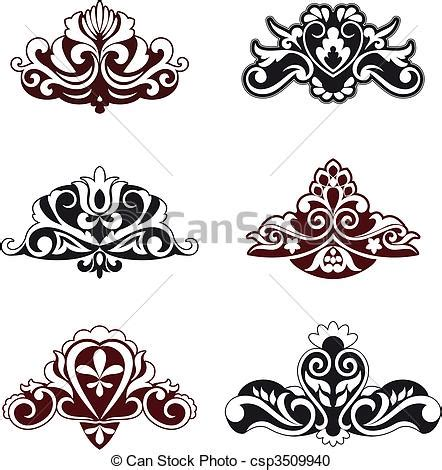 flower pattern vector border vector clipart of flower patterns and borders for design