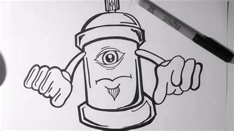 Drawing G by Graffiti Sketch Easy Spray Can Graffiti Collection