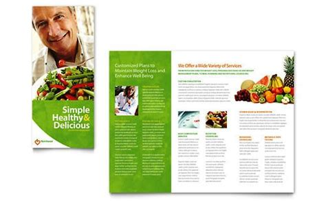 contoh format askep nutrisi desain brosur pamflet kesehatan dan medis elegan dan modern
